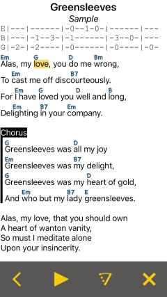 LinkeSOFT SongBook Your lyrics and chords on iPhone, iPad