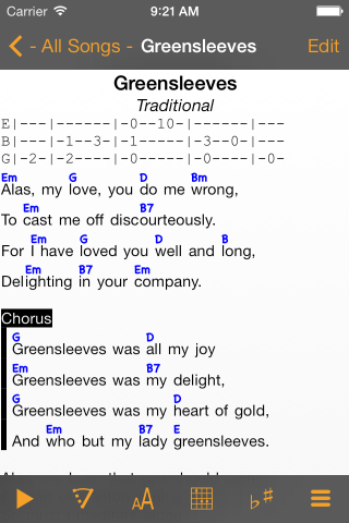 LinkeSOFT SongBook Your lyrics and chords on iPhone, iPad, and iPod ...
