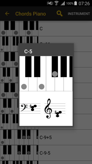 Piano piano chords list : LinkeSOFT SongBook Your lyrics and chords on Android smartphones ...