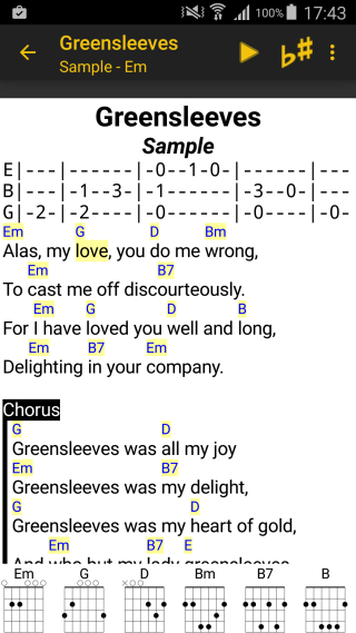 LinkeSOFT SongBook Your lyrics and chords on Android